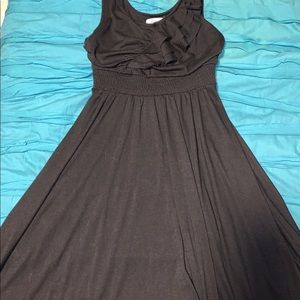 Candies black dress with ruffles